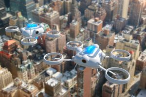 According to the National League of Cities, the list of possible drone applications includes law enforcement, firefighting, inspection, environmental monitoring, disaster management and as rural ambulances. (Credit: Getty Images)