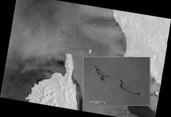 Satellite Spies Mediterranean Slick