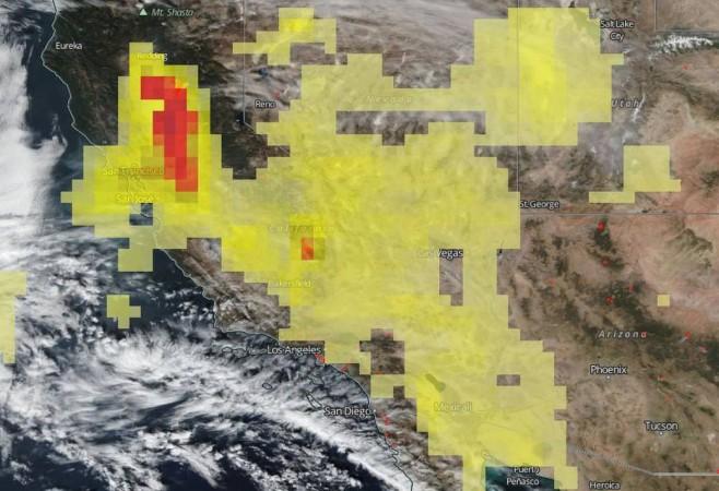 California Fires Spew Aerosols Into Already Saturated Sky