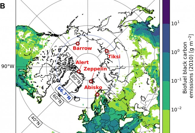 Fossil Fuel Combustion Is Main Contributor to Black Carbon Around Arctic