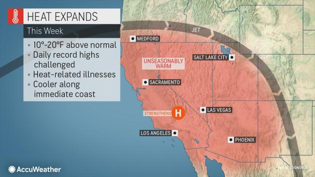 Heat Advisories Issued as Record-Challenging Warmth Builds Across Southwest