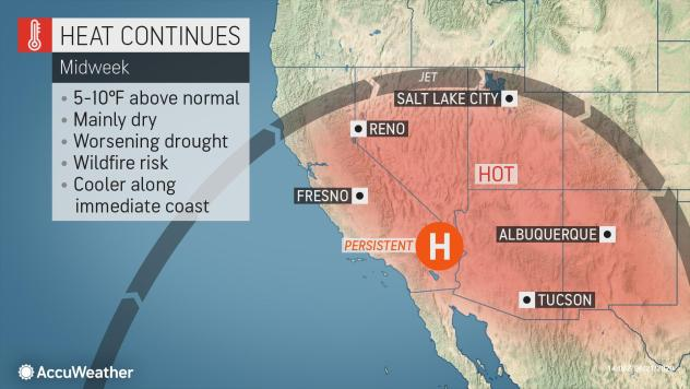 Heat and Drought to Stifle West Through End of June