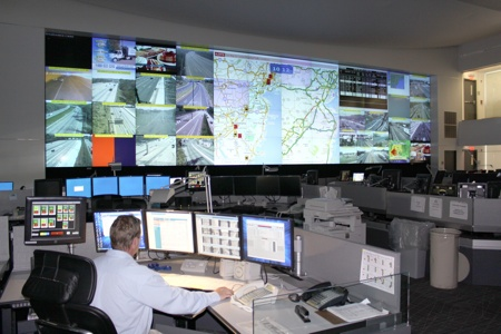 NJ Statewide Traffic Operations Center showing INRIX real-time traffic info.