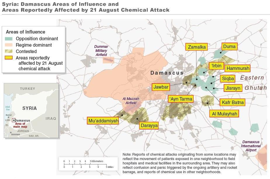 map of Damascus attack precise
